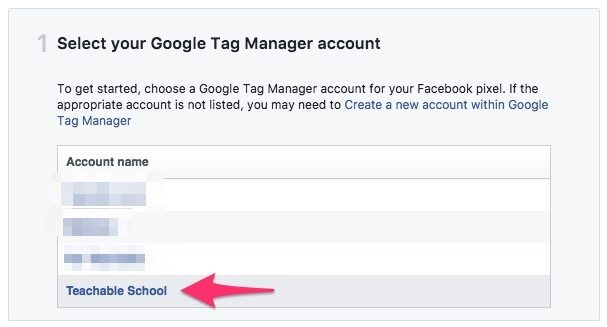 Select GTM Account