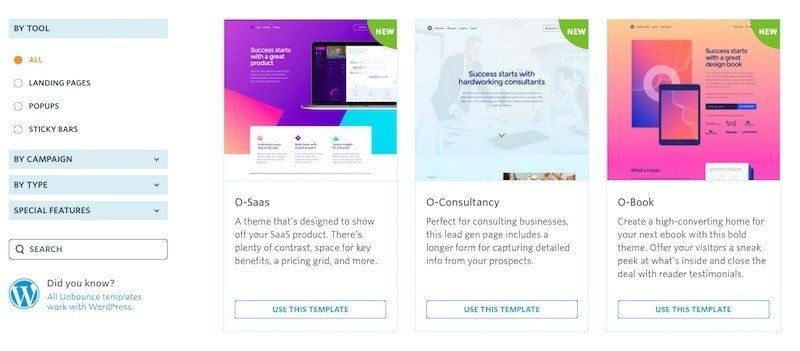 Unbounce Landing Page Software