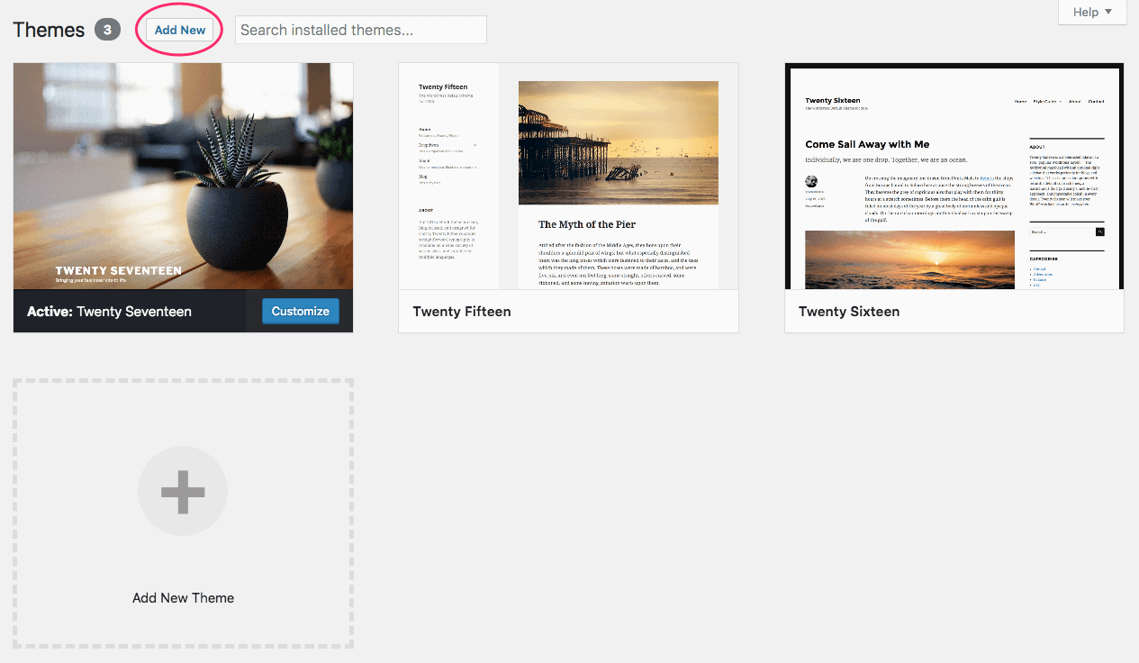Default WordPress Themes