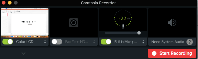 Record Screen Camtasia