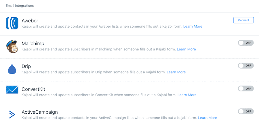 Kajabi Email Marketing Integrations