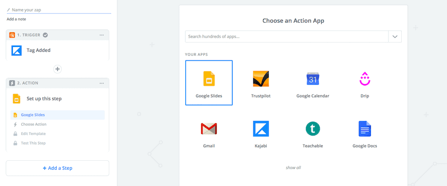 Select Google Slides App