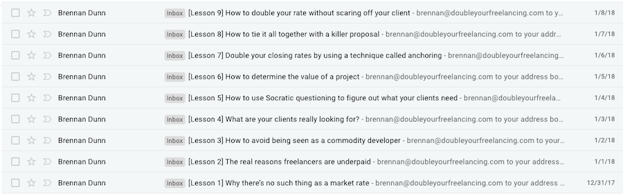 Brennan's Email Course