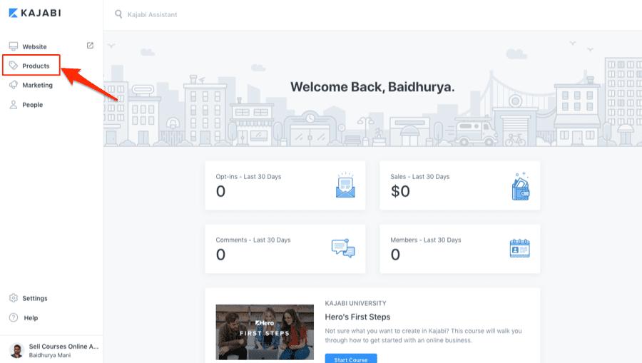 Kajabi Admin Dashboard