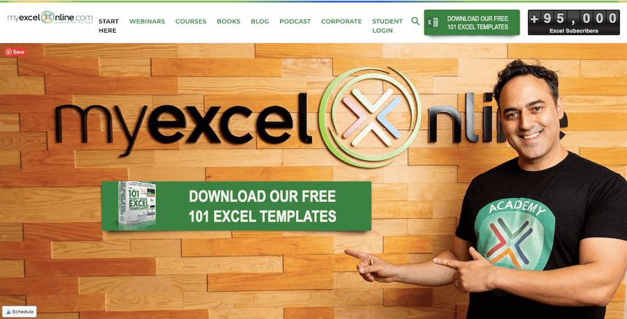 MyExcelOnline Courses