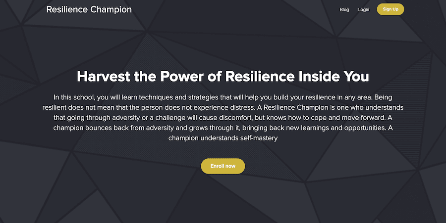 Resilience Champion Courses