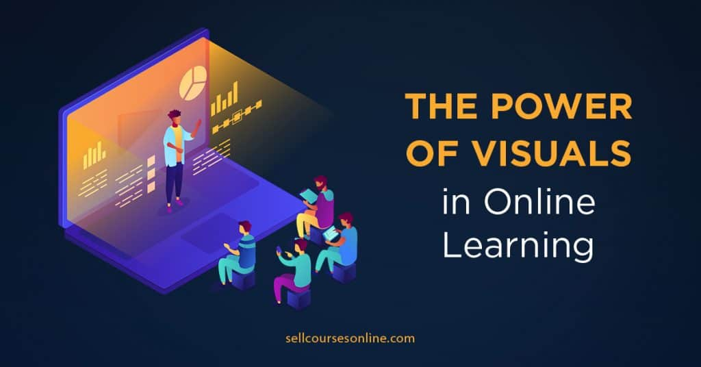 Power of Visuals in Online Learning