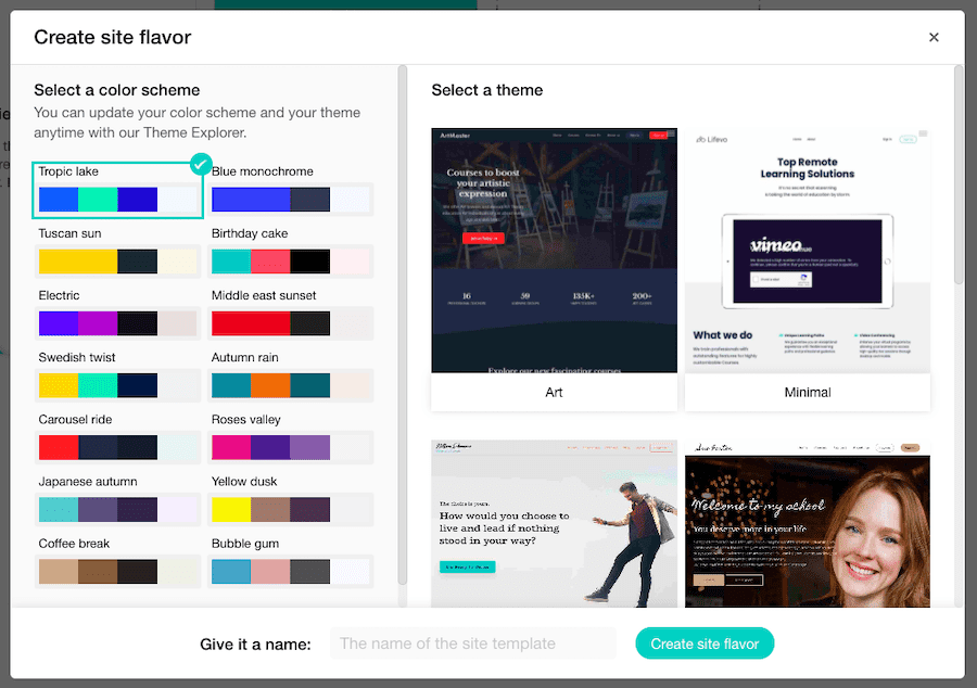 LearnWorldsサイトフレーバー